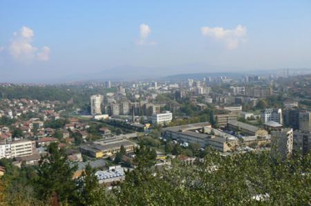 pernik bulgaria view from krakra fortressjpg